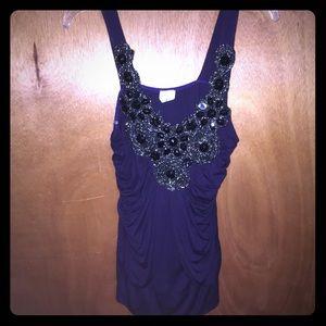 Gorgeous deep purple blouse